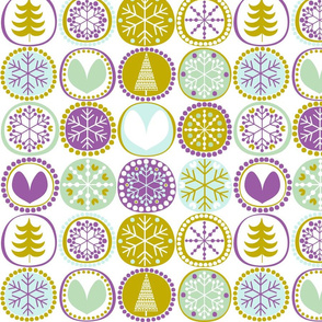 snowflake with purple