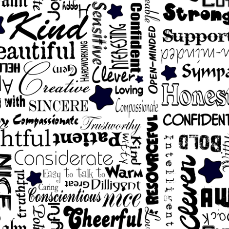 All the Good Things about you fabric by inspirationz on Spoonflower - custom fabric