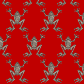 Fabulous Frogs - Bold Red (small-scale version)