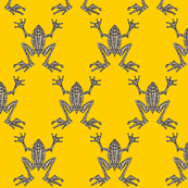 Fabulous Frogs - Bold Yellow (small-scale version)