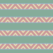 Fenced Zigzag Stripes