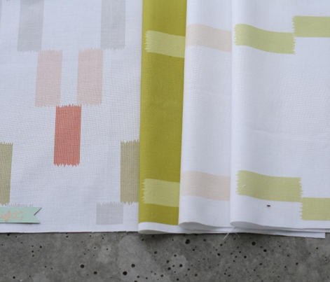 Ikat Arrows - Mustard on white