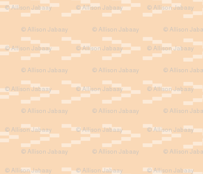 Ikat Arrows - White on Peach