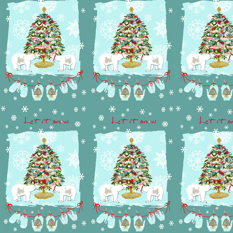 It's Christmas, Let it snow fabric by karenharveycox on Spoonflower - custom fabric