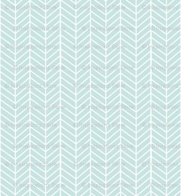 Mint Arrow Feather pattern