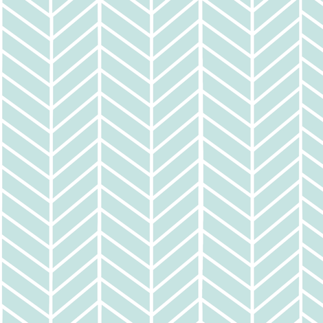 Mint Arrow Feather pattern fabric by inspirationz on Spoonflower - custom fabric