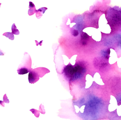 Butterfly Kaleidoscope - Purple
