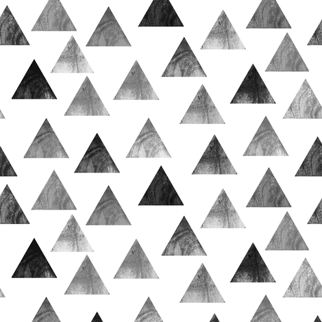 Grey Triangle pattern fabric by inspirationz on Spoonflower - custom fabric