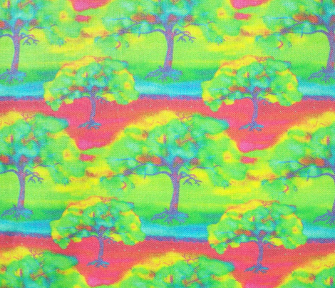 COLORFUL TREE BORDEAUX SMALL REPEAT