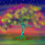 LUMINESCENT TREE ORIGINAL PILLOW PANEL