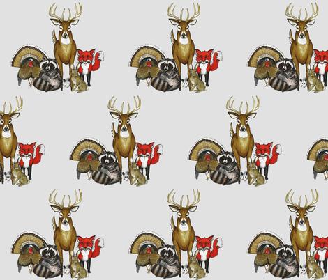 Woodland Animal Group fabric by rachel_wilson on Spoonflower - custom fabric