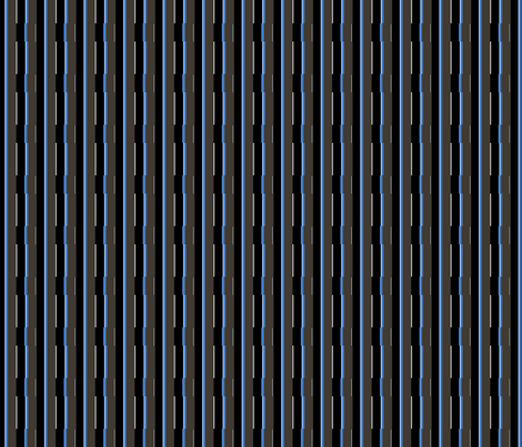 Medium Blue City Stripe fabric by jacumba on Spoonflower - custom fabric