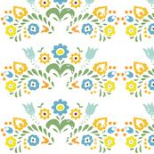 Folk Flower Design in my Fiesta ware Colors