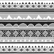 Aztec tribal pattern in black and white