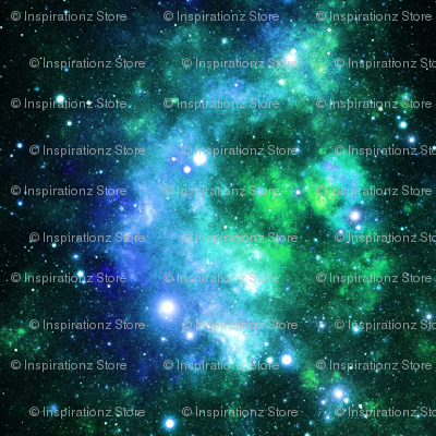 Blue Green Space Stars