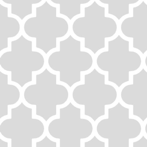 Stylish Grey Quatrefoil fabric by inspirationz on Spoonflower - custom fabric
