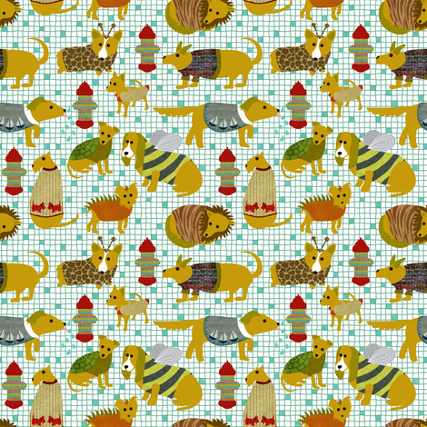 When Humans Learn to Knit fabric by vo_aka_virginiao on Spoonflower - custom fabric