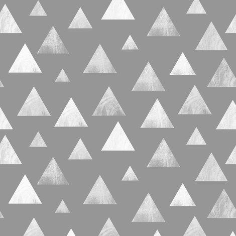 Triangles on Grey fabric by inspirationz on Spoonflower - custom fabric