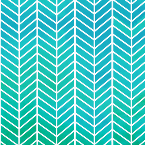 Turquoise Arrow Feather pattern fabric by inspirationz on Spoonflower - custom fabric