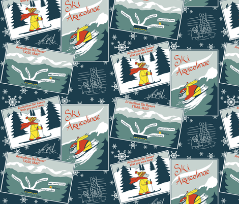 ski_contest_color-palette fabric by gardencritters on Spoonflower - custom fabric