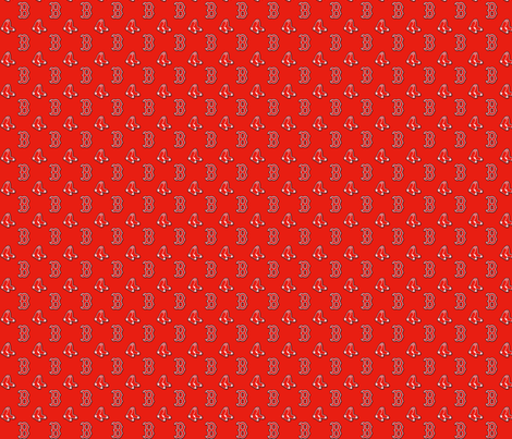 Red Sox fabric by emilybr0 on Spoonflower - custom fabric