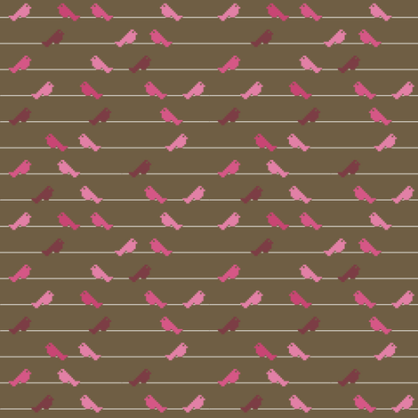 OISEAUX_SUR_BRANCHE_wire_with_birds fabric by aliceandcodesigns on Spoonflower - custom fabric