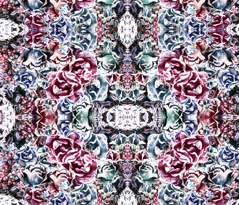 frosted rose fabric by kociara on Spoonflower - custom fabric