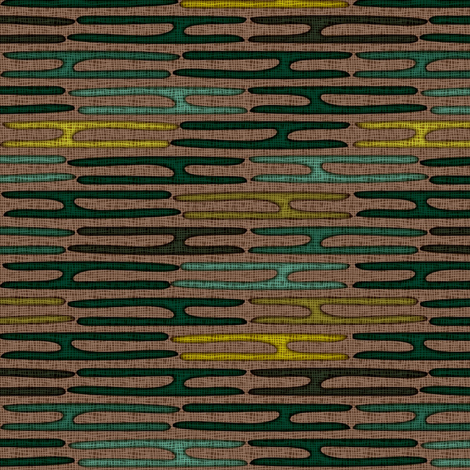 mighty chondria brown green fabric by glimmericks on Spoonflower - custom fabric