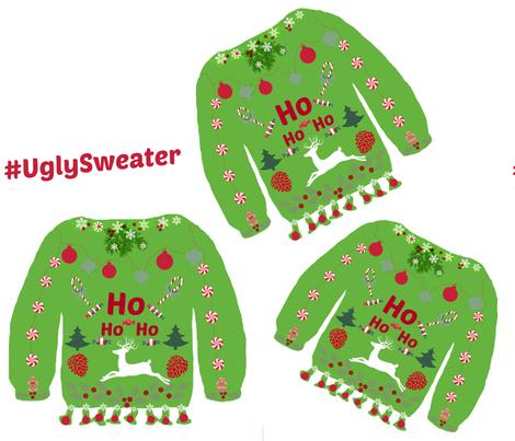 Hashtag UglySweater fabric by bettieblue_designs on Spoonflower - custom fabric