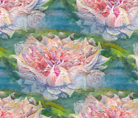 waterlily fabric by nerdlypainter on Spoonflower - custom fabric