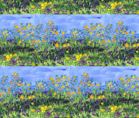 daisy_days_2 fabric by nerdlypainter on Spoonflower - custom fabric