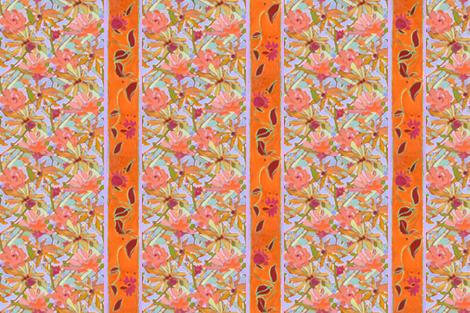 Wildflower Pastels Wide Stripe Orange