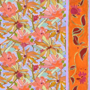 Wildflower Pastels Wide Stripe Orange