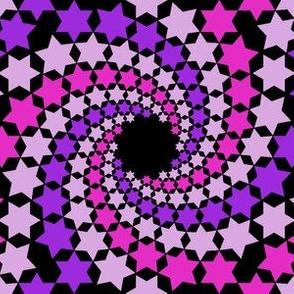 madly spiralling stars