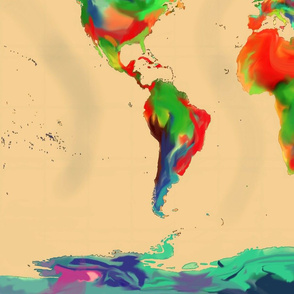 World of Colour Map