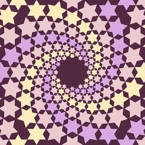 02638514 : mandala 12~ : twilight mauve stars