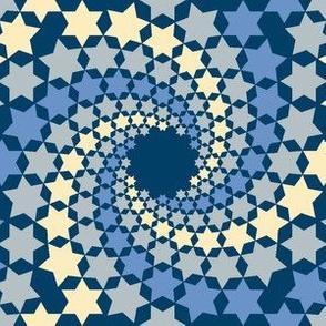 02638515 : mandala 12~ : twilight blue stars