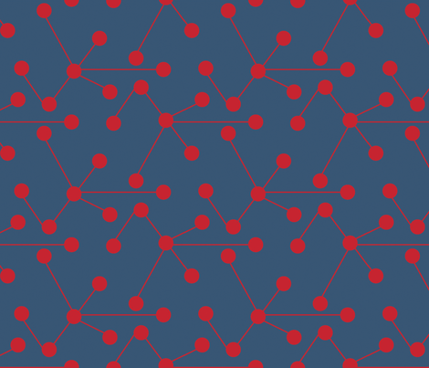 red_and_blue_molecules fabric by holli_zollinger on Spoonflower - custom fabric
