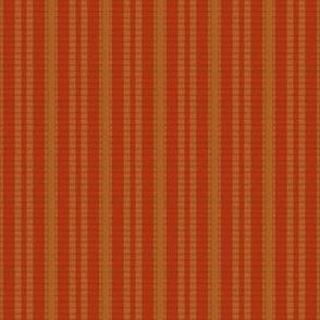 Grosgrain Ribbon ~ Christmas Red and Gilt