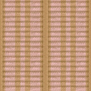 Grosgrain Ribbon ~ Striped Gilt and Dauphine