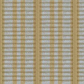 Grosgrain Ribbon ~ Striped Gilt and Versailles Fog