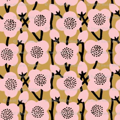 Deco Blossoms ~ Dauphine and Gilt