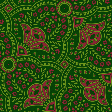 Basket Full Of Posies Paisley ~ Christmas fabric by peacoquettedesigns on Spoonflower - custom fabric