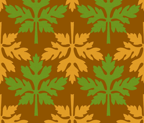 Autumn Leaves  fabric by peacoquettedesigns on Spoonflower - custom fabric