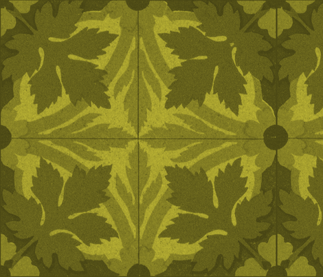 Summer Leaves ~ Tiles fabric by peacoquettedesigns on Spoonflower - custom fabric