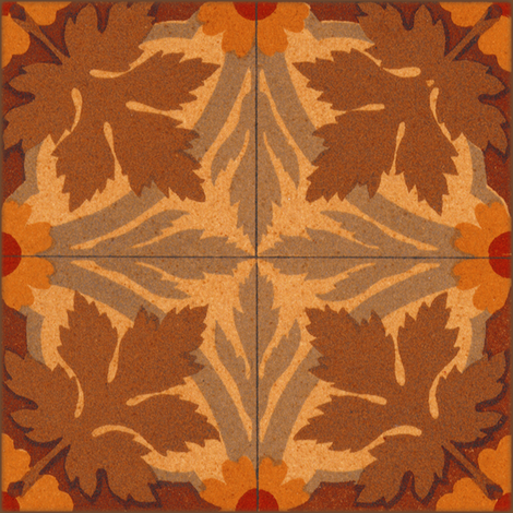 Autumn Leaves ~ Tiles fabric by peacoquettedesigns on Spoonflower - custom fabric