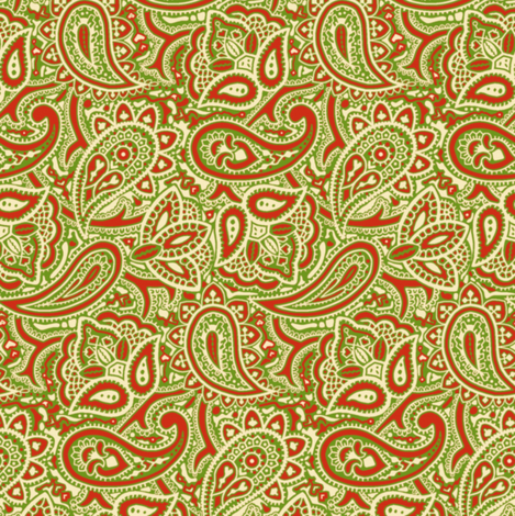 Persnickety Paisley ~ Christmas fabric by peacoquettedesigns on Spoonflower - custom fabric