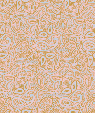 Persnickety Paisley ~ Versailles Fog with Gilt and Dauphine