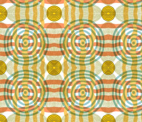 circle pattern fabric by kimmurton on Spoonflower - custom fabric