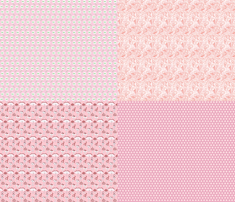 Dolly Fabric: Pinku Collection fabric by beeskneesindustries on Spoonflower - custom fabric